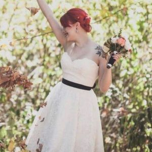 Tea Length Retro Wedding Dress